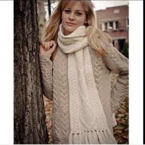Irish Hand-knit Wool Scarf